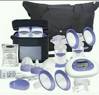 blue-and-white Lansinoh electric breast pump 536 km