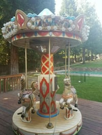 brown and red carousel Walnut Creek, 94598