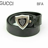 black Gucci leather buckle belt New Delhi, 110092