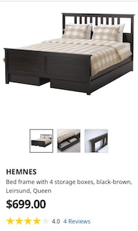 Hemnes bed frame with storage and slats Toronto, M5A 2M5