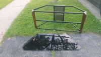 TV stand with glass shelves FREE curb side Brantford, N3R