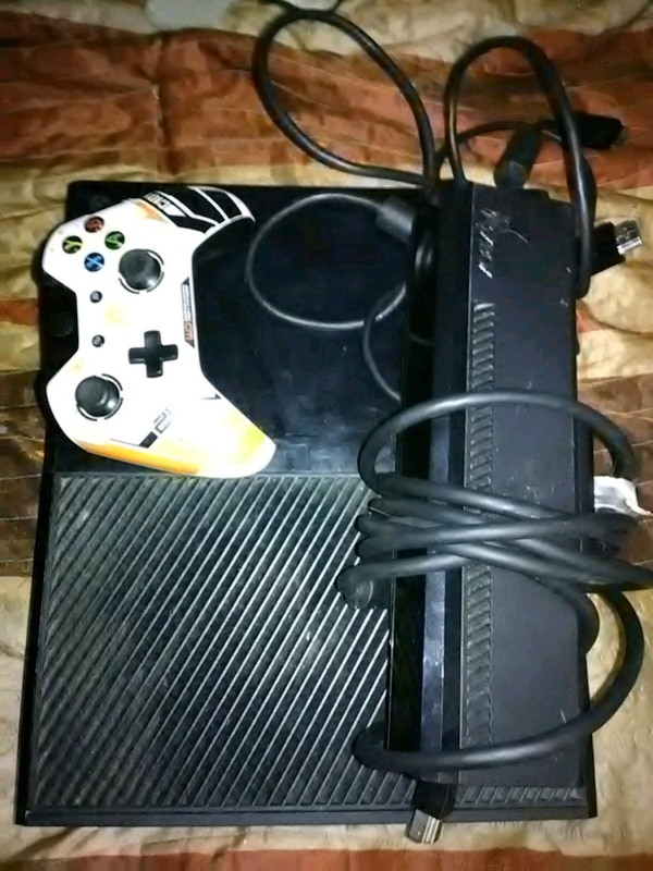 Xbox one with controller and sensor