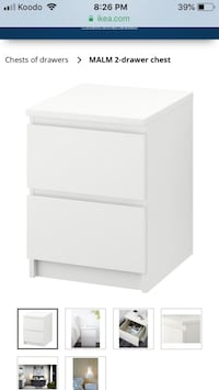 White bedside drawer from ikea