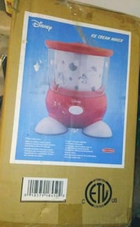 Back to Basics Disney Ice Cream Maker BNIB  Brand New in the Box  Double insulated freezing container Features a locking lid and non-slip rubber feet makes up to 1½ quarts of delicious ice cream, frozen yogurt or other icy desserts in 20 to 30 minutes Req Toronto