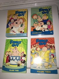 Family Guy Volume 1, 2, 3, 4 DVDs