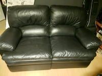 black leather 2-seat sofa Vancouver, V6E 3N9