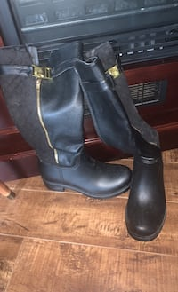 Mid High Leather Boots