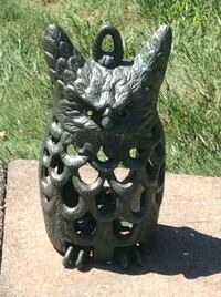 """OUTDOOR GARDEN STATUE- OWL - made of iron - 9.75"""" tall x 5.5"""" wide Piscataway Township, 08854"""