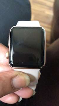 space gray aluminum case Apple Watch with white sport band Milwaukee, 53218