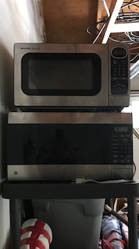 two grey-and-black microwave ovens Stafford, 22554