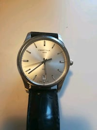 Certina DS-4, ø - 40mm, silver tone, leather Gamle Oslo, 0187