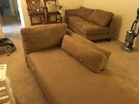 Light brown sectional with chaise  lounge Rockville, 20850