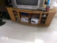 brown wooden framed glass top TV stand Mumbai, 400070