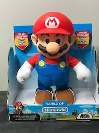 JAKKS Pacific World of Nintendo Super Mario Super Jump Mario Action Figure  Super Mario Brothers BRAND NEW!!!  Price is Firm!  If your child is a fan of classic video games, they'll be jumping for joy when they receive an Animated Super Jumping Mario! Thi Toronto