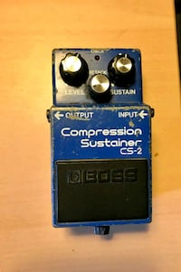 Boss Compression Sustainer CS-2 guitar FX pedal. Niagara Falls