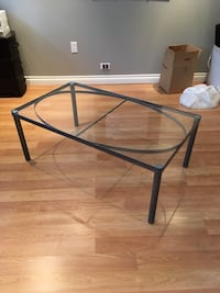Glass and metal coffee table North Vancouver, V7H 1V7