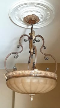 Iron & Glass Crown Chandelier