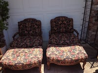 Down-Filled Vintage Oversized French Chair & Ottoman. Firm Price. Fayetteville, 72704