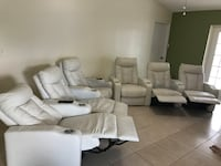 Off white leather sofa Kissimmee, 34747