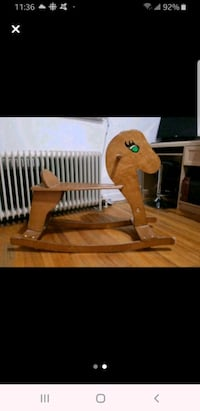 Wooden riding horse for kids
