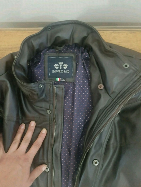 Emporio & co leather jacket for men