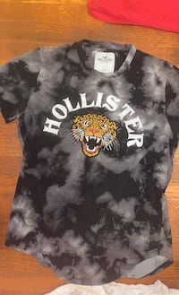 Hollister T- Shirt Cheetah Graphic w/ Bold Lettering