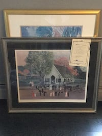 authentic sally fisher framed numbered printTablet null