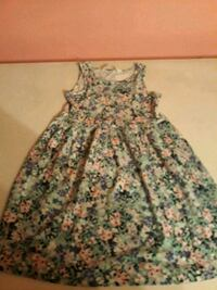 Kids green and white floral sleeveless dress Little River, 29566