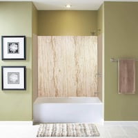 NEW Transolid EWK603672-43 Expressions 3-Panel Shower Wall Kit, 36-in L x 60-in W x 72-in H, Sorento