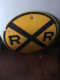 Railroad sign. Found at an old barn sale in Ohio Shelbyville, 37160