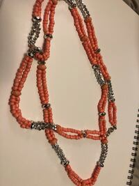 Hand made long necklace that can be wrapped twice   Leeds, 12451