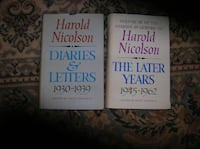 Two (2) Books by Harold Nicolson Springfield