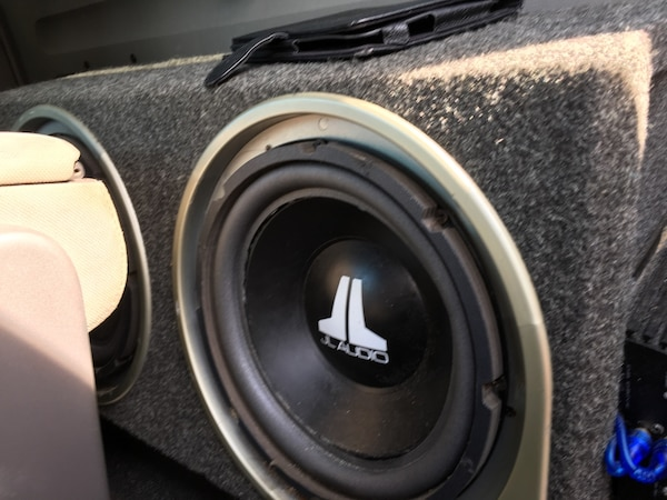 "2 - 12"" JL Audio Subwoofers with a low profile box"