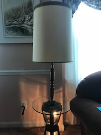 Lighted lamp with glass table Silver Spring