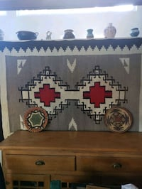 Stunning antique Navajo blanket, very large
