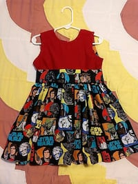 red and multicolored Star Wars sleeveless dress North Augusta, 29860