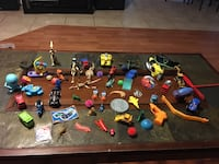 assorted plastic toy collection with box Osteen, 32764