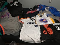 Bundle pack baseball and basketball jerseys authentic and stitched .