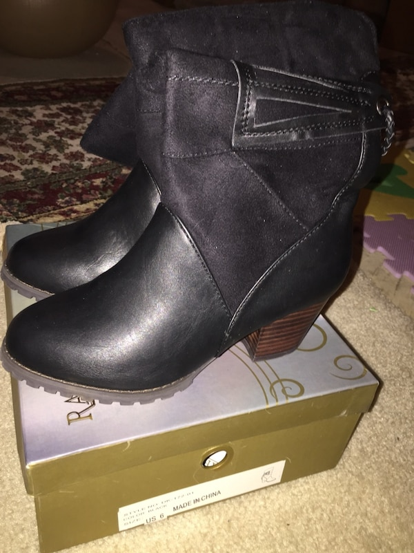 US size 6 new leather boots