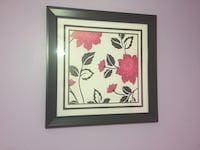 Black and shades of pink petaled flower painting Falling Waters, 25419