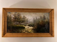 brown wooden framed painting of trees Metairie, 70001