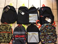 Backpacks (2 pockets/compartments  each)