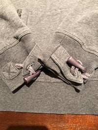 Sweater with detachable hoodie