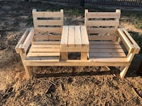 brown wooden bench and bench Jackson, 39212