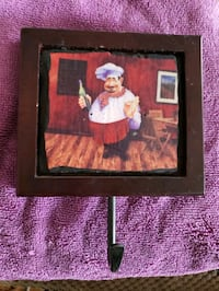 Key holder with chef picture Frederick