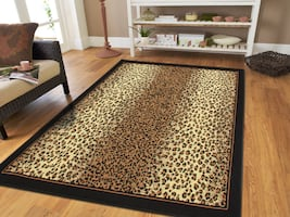 NEW Cheetah Print Area rug 5x8 8x11 rugs