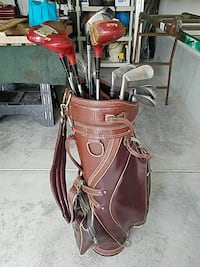 golf clubs with brown leather golf ba Myrtle Beach, 29579