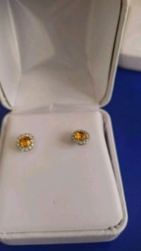 Yellow earings real sterlling silver 550 km