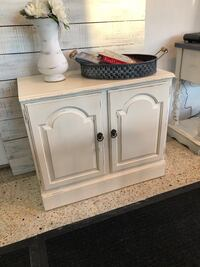 Solid wood accent cabinet. Rustic