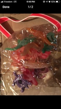 Pack of 1980s Mixed sea creature toys Vaughan, L4J 7W7